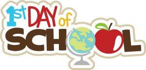 First Day of School K-8th Grade~ 1/2 Day
