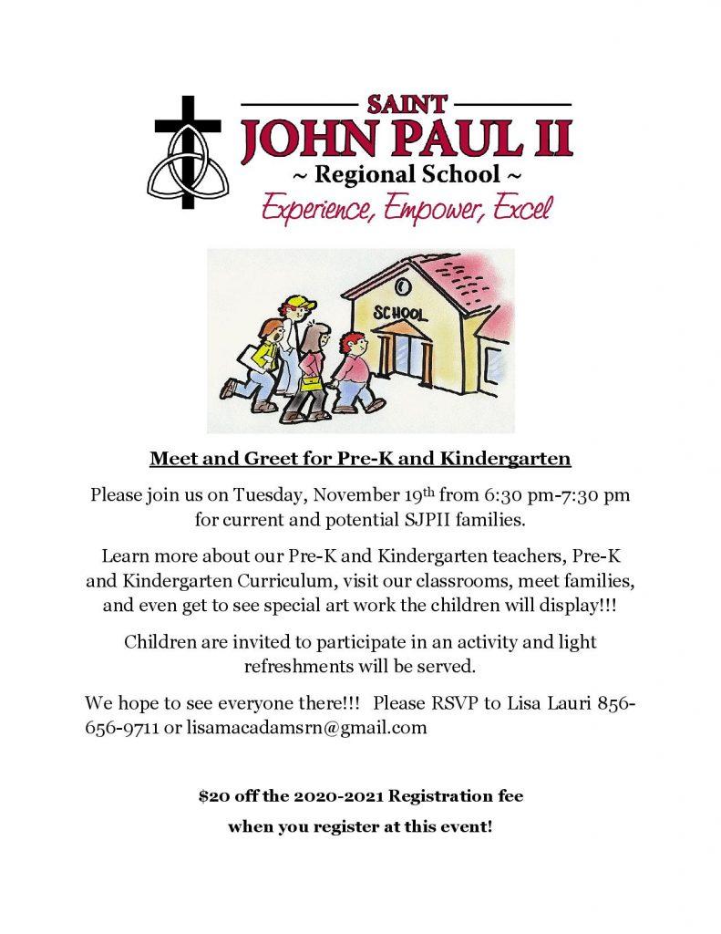 Pre-K and Kindergarten Meet and Greet