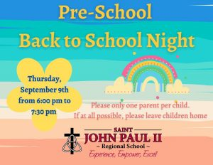 Preschool Back to School Night